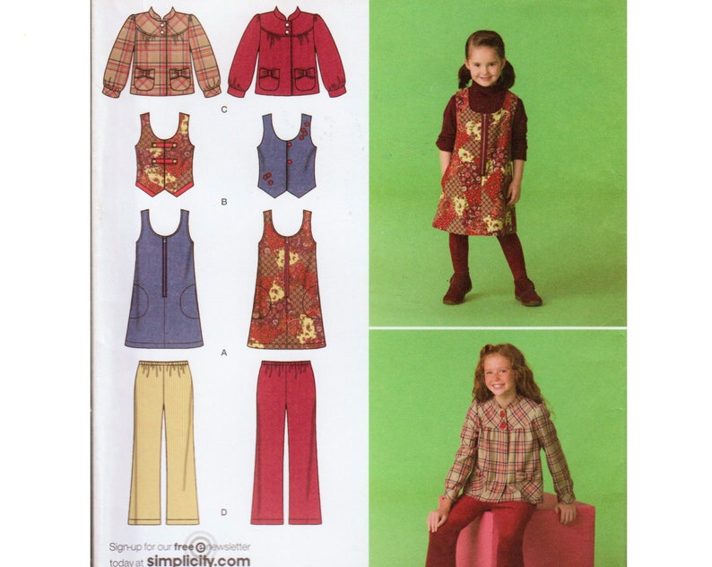 ee4186edf Girls Jumper Pattern Girls Jacket Pattern Girls Vest Pattern