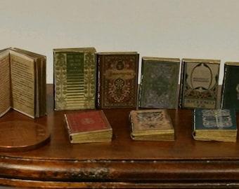 dolls house minature books, Tudor style job lot of 9 books with print! 1:12th Scale