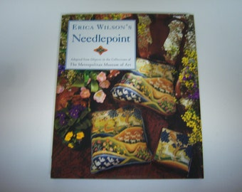 Erica Wilson's Needlepoint Book, Metropolitian Museum of Art, 1995 Hardback With Dust Jacket, Very Good Condition, Beautiful Needlepoint