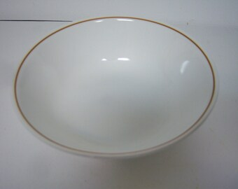 """Corelle Corning Ware, Indian Summer Small Serving Bowl, White With Brown Band, 8.5"""" x 2.5"""", Small Corelle Bowl"""