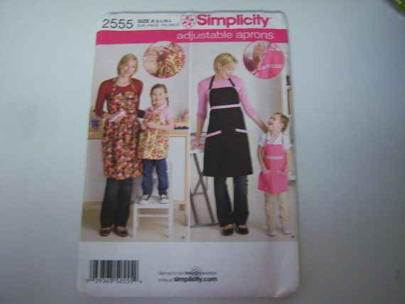 Simplicity 2555 Pattern Factory Fold Never Used Apron Etsy
