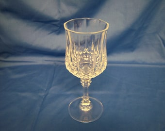 "Vintage Cristal d'Arques Longchamp, Water Glasses, Total Of 13, Measure 3"" Diameter and 8"" Tall, Matching Pieces, Made In France"