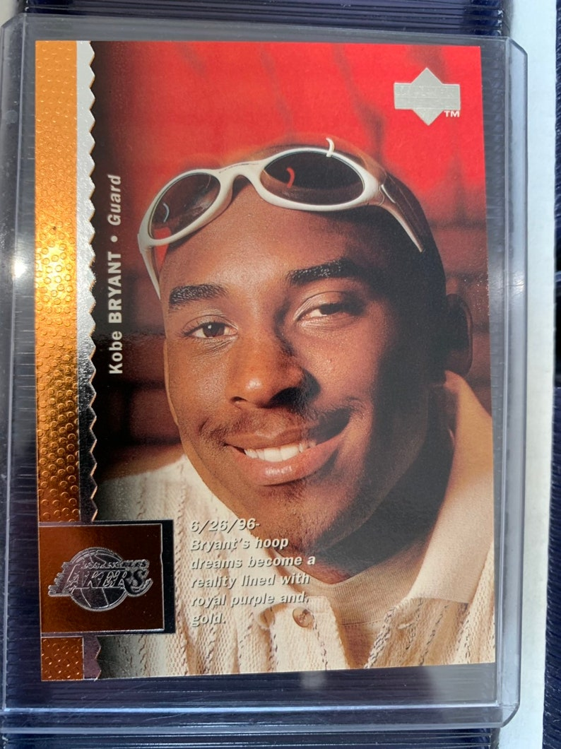 1997 98 Upper Deck Kobe Bryant Rookie Card 58