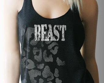 Beast Workout Tank. Workout Shirt. Workout Clothes. Exercise Clothing. Weight Lifting Shirt. Fitness Tank. Exercise Tank.