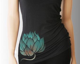 Lotus. Yoga. Yoga Tank. Yoga Shirt. Yoga Clothes. Yoga Clothing. Yoga Top. Yoga Tank Top. Women's Yoga. Yoga TShirt. Namaste. Vita Sana
