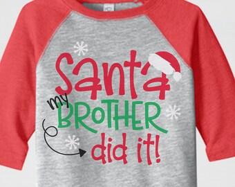 8a06a32524c0 Toddler Christmas Shirt, Boys Christmas Shirt, Christmas Raglan, Holiday  Shirt, Santa Shirt, Funny Christmas Shirt, Kids Christmas Shirt