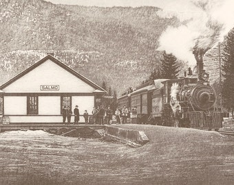 "/""Rossland,B.C. 1985/"" Historical Litho Art Print THE 80/'s KOOTENAY COLLECTION"