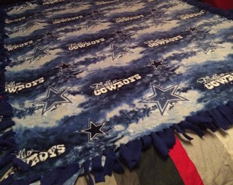 8ffb49c82 Dallas Cowboys Blanket   Large - XLarge Blanket   Blue and White Tie Dye  Blanket   NFL Blanket   Fleece Tie Blanket   Father s Day Blanket