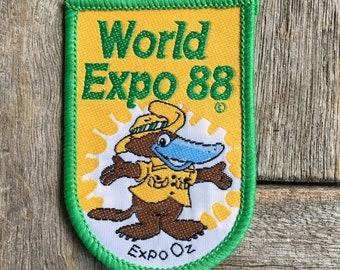 World Expo 88, Brisbane, Australia Vintage Travel Souvenir Patch By Sydney G. Hughes