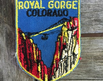 Royal Gorge Colorado Vintage Travel Souvenir Patch from Voyager - LAST ONE!
