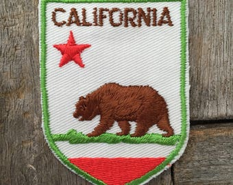 California Vintage Travel Souvenir Patch from Baxter Lane - New in Original Package