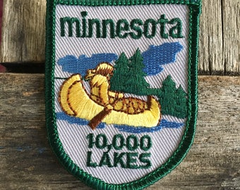 Minnesota 10,000 Lakes Vintage Souvenir Travel Patch by Baxter Lane