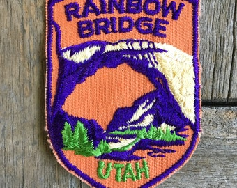 ONLY ONE! Rainbow Bridge Utah Vintage Souvenir Travel Patch from Voyager