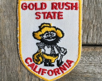 Gold Rush State California Vintage Travel Souvenir Patch by Voyager - New in Original Package