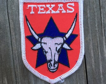 Texas Vintage Souvenir Travel Patch from Embroidered Emblems
