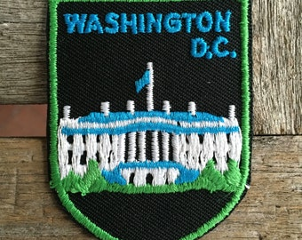 Washington D.C. Vintage Souvenir Travel Patch from Voyager