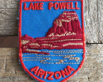 Lake Powell Arizona Vintage Souvenir Travel Patch from Voyager