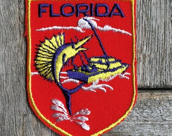 Florida Vintage Souvenir Travel Patch from Voyager