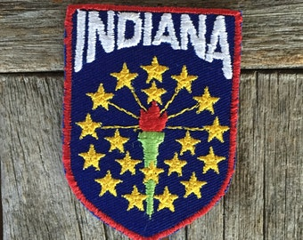 Indiana Vintage Souvenir Travel Patch from Voyager