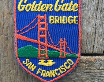Golden Gate Bridge San Francisco Bay Vintage Souvenir Travel Patch from Voyager