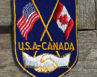 U.S.A.-Canada Vintage Travel Souvenir Patch by Voyager - New in Original Package