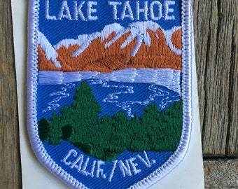 ONLY ONE! Lake Tahoe California/Nevada Vintage Souvenir Travel Patch from Reno Tahoe Specialty, Inc