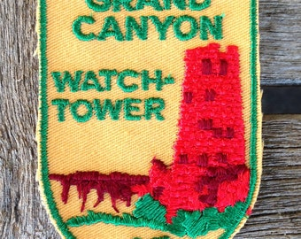 LAST ONE! Grand Canyon Watch Tower Vintage Souvenir Travel Patch from Voyager
