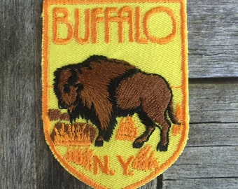 LAST ONE! Buffalo, New York Vintage Souvenir Travel Patch from Voyager