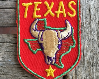 Texas Vintage Travel Souvenir Patch from Voyager
