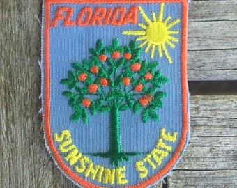 Florida Sunshine State Vintage Souvenir Travel Patch from Voyager