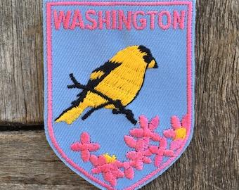 Washington State Vintage Souvenir Travel Patch from Baxter Lane