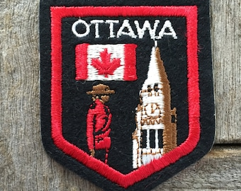 Ottawa Canada Vintage Travel Souvenir Patch by International Insignia - New in Original Package