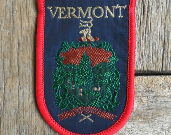 Vermont Vintage Souvenir Travel Patch from J. & J. Cash