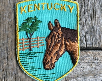 Kentucky Vintage Souvenir Travel Patch from Voyager - New In Original Package