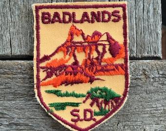 Badlands South Dakota Vintage Souvenir Travel Patch from Voyager