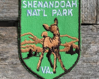 Shenandoah National Park Virginia Vintage Souvenir Travel Patch from Voyager