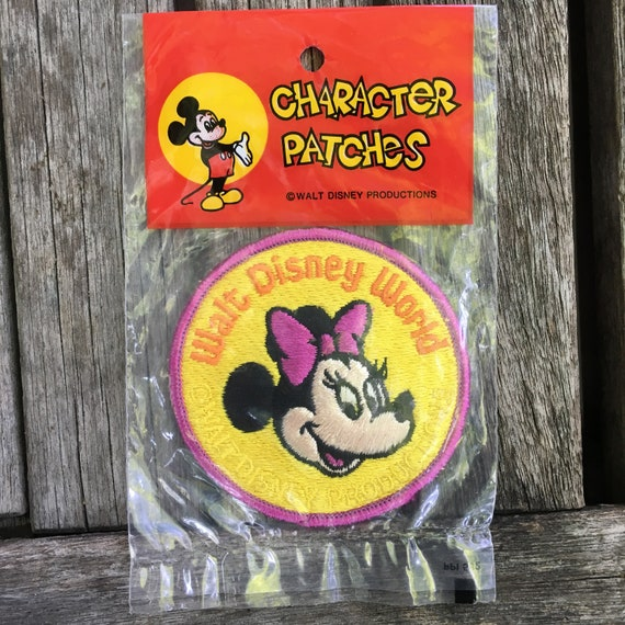 Character Patches Disney Minnie Vintage Minnie Mouse Patch Vintage Disney Patch Disneyland Patch