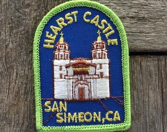 Hearst Castle, San Simeon California Vintage Travel Souvenir Patch by Lion - New in Original Package