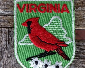 Virginia Vintage Souvenir Travel Patch from Voyager