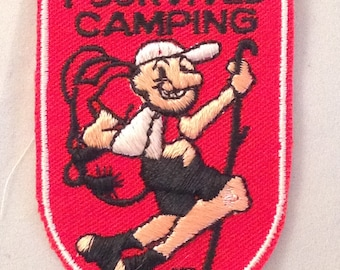 I Survived Camping Vintage Travel Patch from Voyager