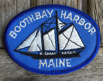Boothbay Harbor Maine Vintage Souvenir Travel Patch by Nanco