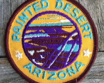 Painted Desert Arizona Vintage Souvenir Travel Patch, a Trailblazer Emblems by B&B Enterprises