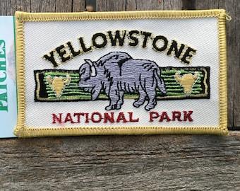 Yellowstone National Park Vintage Souvenir Travel Patch