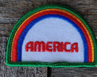 America Vintage Travel Souvenir Patch from Voyager