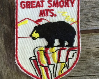 LAST ONE! Great Smoky Mountains National Park Vintage Souvenir Travel Patch from Voyager