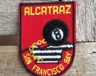 Alcatraz San Francisco Bay Vintage Souvenir Travel Patch from Voyager