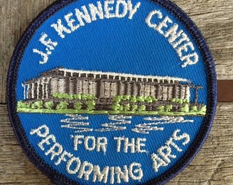 John F. Kennedy Center for the Performing Arts Washington DC Vintage Souvenir Travel Patch from Voyager - LAST ONE!