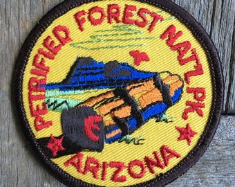 Petrified Forest National Park Arizona Vintage Souvenir Travel Patch, a Trailblazer Emblem by B&B Enterprises