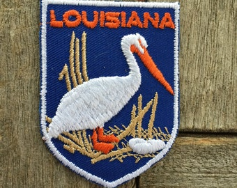 Louisiana Vintage Souvenir Travel Patch from Voyager - New In Original Package