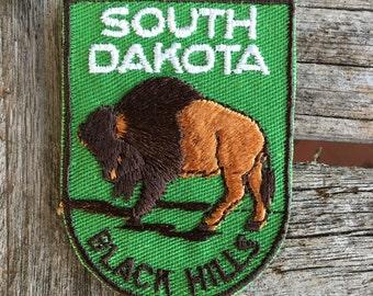 South Dakota Black Hills Vintage Souvenir Travel Patch from Voyager